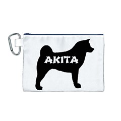 Akita Name Silo Canvas Cosmetic Bag (M)