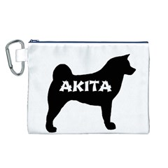 Akita Name Silo Canvas Cosmetic Bag (L)