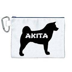 Akita Name Silo Canvas Cosmetic Bag (XL)