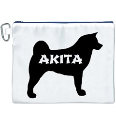 Akita Name Silo Canvas Cosmetic Bag (XXXL)