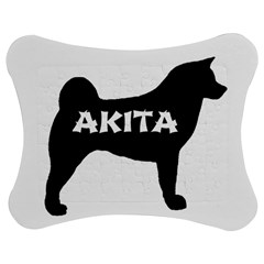 Akita Name Silo Jigsaw Puzzle Photo Stand (Bow)