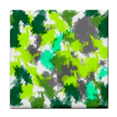 Abstract Watercolor Background Wallpaper Of Watercolor Splashes Green Hues Tile Coasters
