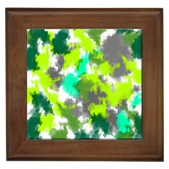 Abstract Watercolor Background Wallpaper Of Watercolor Splashes Green Hues Framed Tiles