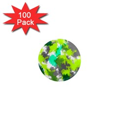 Abstract Watercolor Background Wallpaper Of Watercolor Splashes Green Hues 1  Mini Magnets (100 pack)