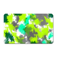 Abstract Watercolor Background Wallpaper Of Watercolor Splashes Green Hues Magnet (Rectangular)