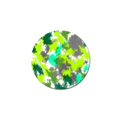 Abstract Watercolor Background Wallpaper Of Watercolor Splashes Green Hues Golf Ball Marker (10 pack)