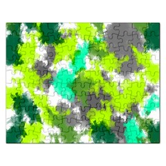 Abstract Watercolor Background Wallpaper Of Watercolor Splashes Green Hues Rectangular Jigsaw Puzzl