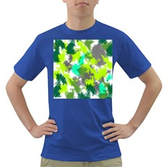 Abstract Watercolor Background Wallpaper Of Watercolor Splashes Green Hues Dark T Shirt