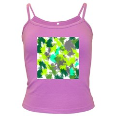 Abstract Watercolor Background Wallpaper Of Watercolor Splashes Green Hues Dark Spaghetti Tank