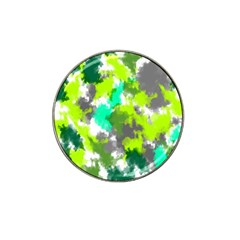 Abstract Watercolor Background Wallpaper Of Watercolor Splashes Green Hues Hat Clip Ball Marker (10 pack)