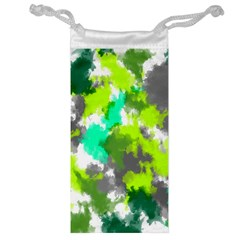 Abstract Watercolor Background Wallpaper Of Watercolor Splashes Green Hues Jewelry Bag