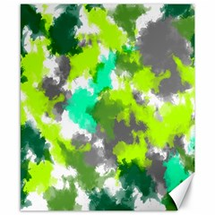 Abstract Watercolor Background Wallpaper Of Watercolor Splashes Green Hues Canvas 8  x 10