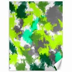 Abstract Watercolor Background Wallpaper Of Watercolor Splashes Green Hues Canvas 12  x 16