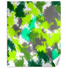 Abstract Watercolor Background Wallpaper Of Watercolor Splashes Green Hues Canvas 16  X 20