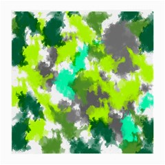 Abstract Watercolor Background Wallpaper Of Watercolor Splashes Green Hues Medium Glasses Cloth (2-Side)