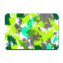 Abstract Watercolor Background Wallpaper Of Watercolor Splashes Green Hues Small Doormat