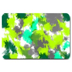Abstract Watercolor Background Wallpaper Of Watercolor Splashes Green Hues Large Doormat