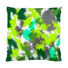 Abstract Watercolor Background Wallpaper Of Watercolor Splashes Green Hues Standard Cushion Case (Two Sides)