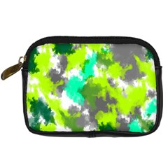 Abstract Watercolor Background Wallpaper Of Watercolor Splashes Green Hues Digital Camera Cases