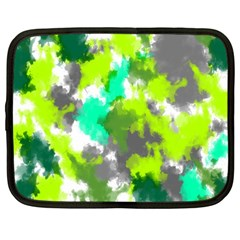 Abstract Watercolor Background Wallpaper Of Watercolor Splashes Green Hues Netbook Case (xxl)
