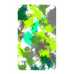 Abstract Watercolor Background Wallpaper Of Watercolor Splashes Green Hues Memory Card Reader
