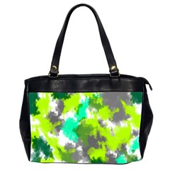 Abstract Watercolor Background Wallpaper Of Watercolor Splashes Green Hues Office Handbags (2 Sides)