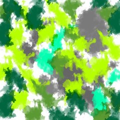Abstract Watercolor Background Wallpaper Of Watercolor Splashes Green Hues Magic Photo Cubes