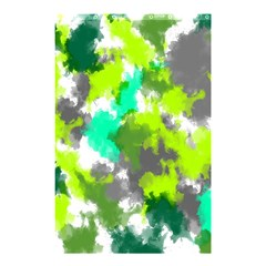 Abstract Watercolor Background Wallpaper Of Watercolor Splashes Green Hues Shower Curtain 48  X 72  (small)