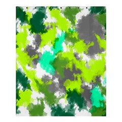 Abstract Watercolor Background Wallpaper Of Watercolor Splashes Green Hues Shower Curtain 60  x 72  (Medium)