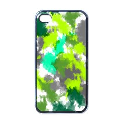 Abstract Watercolor Background Wallpaper Of Watercolor Splashes Green Hues Apple iPhone 4 Case (Black)