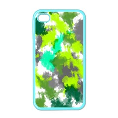 Abstract Watercolor Background Wallpaper Of Watercolor Splashes Green Hues Apple iPhone 4 Case (Color)