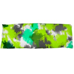 Abstract Watercolor Background Wallpaper Of Watercolor Splashes Green Hues Body Pillow Case Dakimakura (Two Sides)
