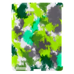 Abstract Watercolor Background Wallpaper Of Watercolor Splashes Green Hues Apple Ipad 3/4 Hardshell Case (compatible With Smart Cover)