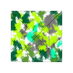 Abstract Watercolor Background Wallpaper Of Watercolor Splashes Green Hues Acrylic Tangram Puzzle (4  X 4 )