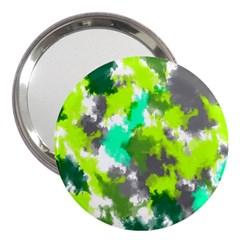 Abstract Watercolor Background Wallpaper Of Watercolor Splashes Green Hues 3  Handbag Mirrors