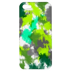 Abstract Watercolor Background Wallpaper Of Watercolor Splashes Green Hues Apple iPhone 5 Hardshell Case
