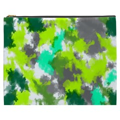 Abstract Watercolor Background Wallpaper Of Watercolor Splashes Green Hues Cosmetic Bag (XXXL)