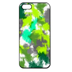 Abstract Watercolor Background Wallpaper Of Watercolor Splashes Green Hues Apple iPhone 5 Seamless Case (Black)
