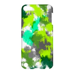 Abstract Watercolor Background Wallpaper Of Watercolor Splashes Green Hues Apple Ipod Touch 5 Hardshell Case