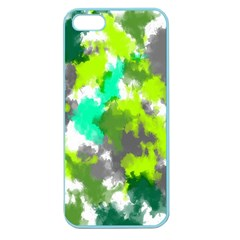 Abstract Watercolor Background Wallpaper Of Watercolor Splashes Green Hues Apple Seamless iPhone 5 Case (Color)