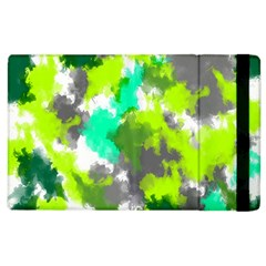 Abstract Watercolor Background Wallpaper Of Watercolor Splashes Green Hues Apple Ipad 3/4 Flip Case