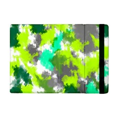 Abstract Watercolor Background Wallpaper Of Watercolor Splashes Green Hues Apple iPad Mini Flip Case
