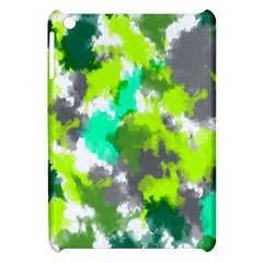 Abstract Watercolor Background Wallpaper Of Watercolor Splashes Green Hues Apple iPad Mini Hardshell Case