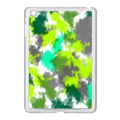 Abstract Watercolor Background Wallpaper Of Watercolor Splashes Green Hues Apple Ipad Mini Case (white)