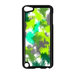 Abstract Watercolor Background Wallpaper Of Watercolor Splashes Green Hues Apple iPod Touch 5 Case (Black)