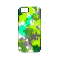 Abstract Watercolor Background Wallpaper Of Watercolor Splashes Green Hues Apple iPhone 5 Classic Hardshell Case (PC+Silicone)