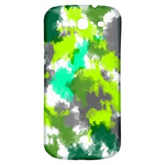 Abstract Watercolor Background Wallpaper Of Watercolor Splashes Green Hues Samsung Galaxy S3 S III Classic Hardshell Back Case