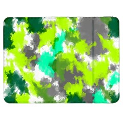 Abstract Watercolor Background Wallpaper Of Watercolor Splashes Green Hues Samsung Galaxy Tab 7  P1000 Flip Case