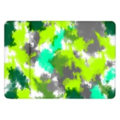 Abstract Watercolor Background Wallpaper Of Watercolor Splashes Green Hues Samsung Galaxy Tab 8 9  P7300 Flip Case