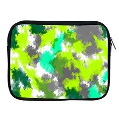 Abstract Watercolor Background Wallpaper Of Watercolor Splashes Green Hues Apple Ipad 2/3/4 Zipper Cases